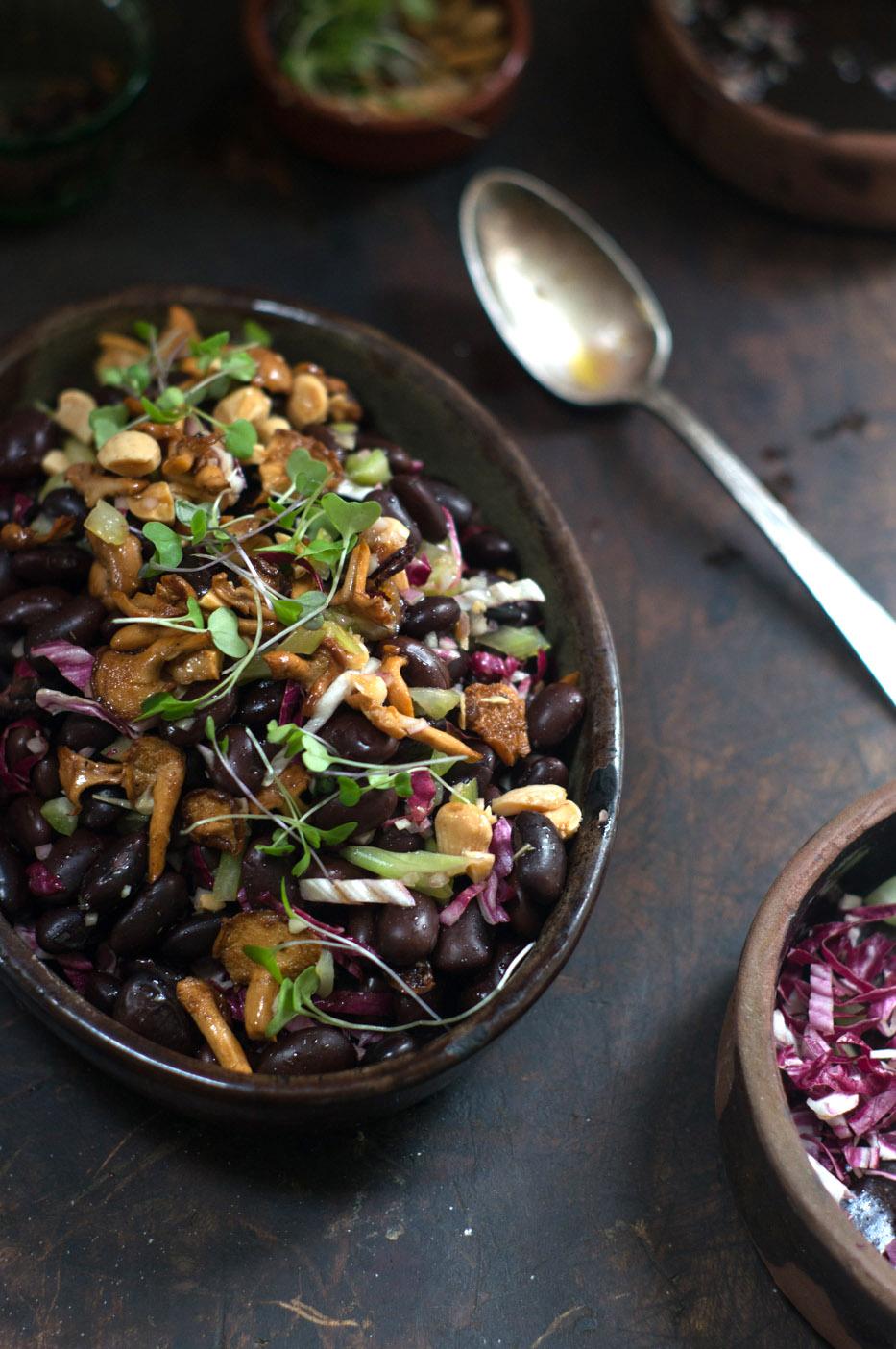 Ayocote Mushroom Salad