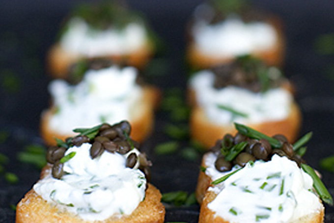 Beluga Lentil Crostini Recipe - 101 Cookbooks