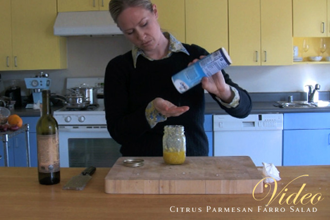 Video: Citrus Parmesan Farro Salad recipe