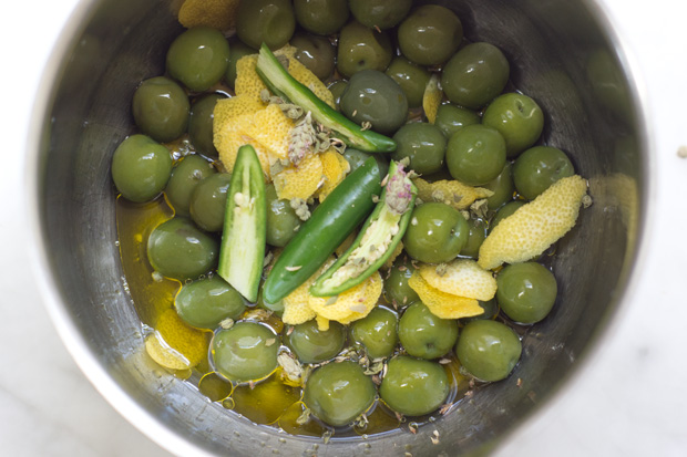 Gin Marinated Olives