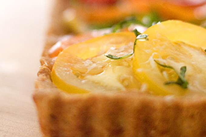 Heirloom Tomato Tart in a Parmesan Crust Recipe - 101 ...