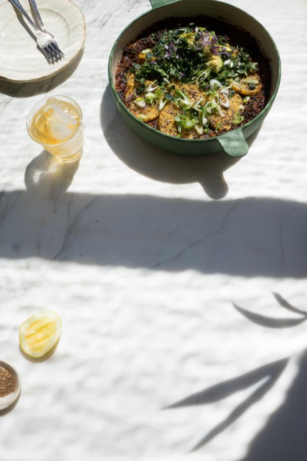 Lentil Polenta Casserole Recipe