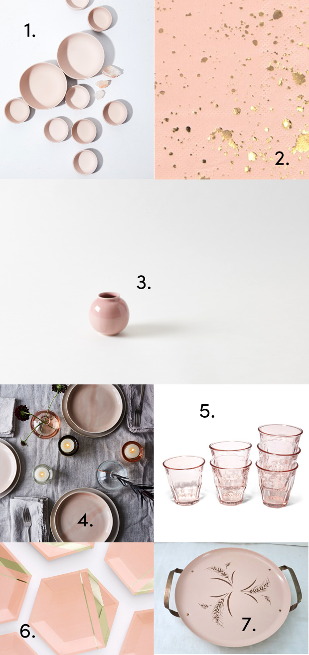 Want to Weave Millennial Pink into your Kitchen, Tabletop, and Photos? Here's how.