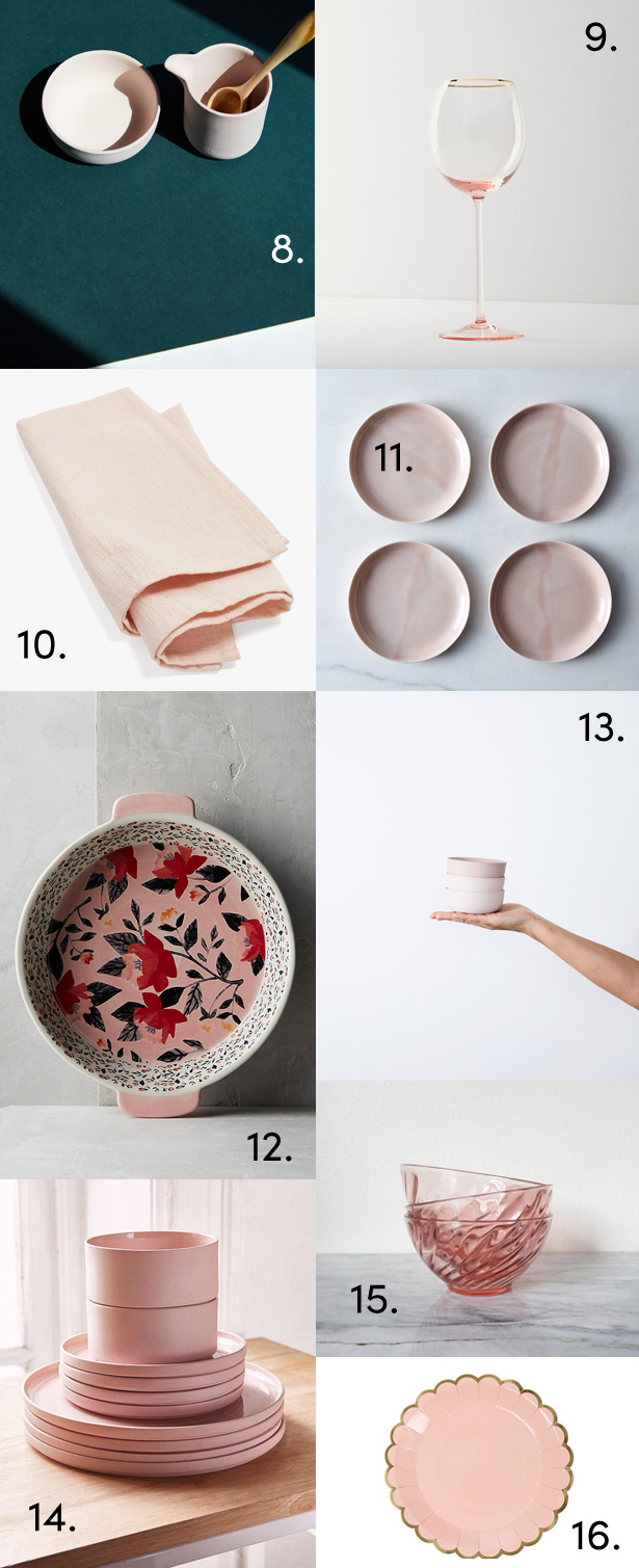 Want to Weave Millennial Pink into your Kitchen, Tabletop, and Photos? Here's how