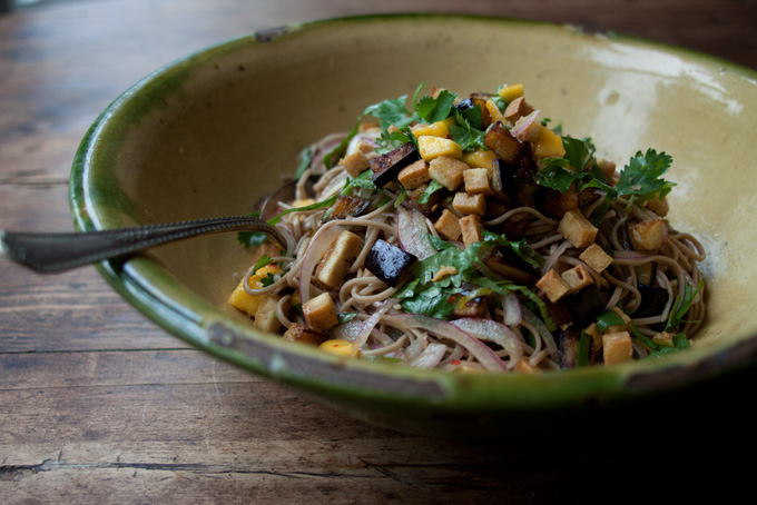 Ottolenghi Soba Noodles With Aubergine And Mango Recipe 101 Cookbooks