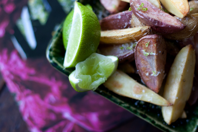Black Pepper and Lime Oven Fries