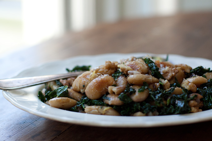 Pan-fried Corona Beans & Kale Recipe - 101 Cookbooks