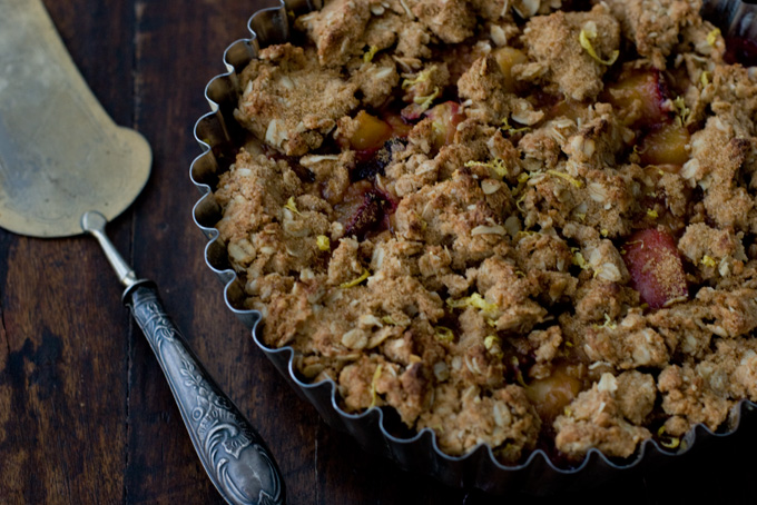 Plum and Peach Crisp recipe