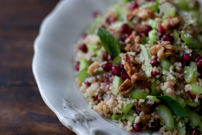 Bulgur, Celery and Pomegranate Salad Recipe - 101 Cookbooks