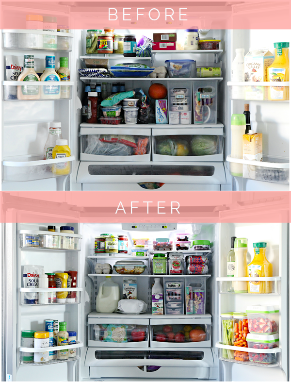 Organizing Before And After: Ten Refrigerators That Inspire Healthy Eating