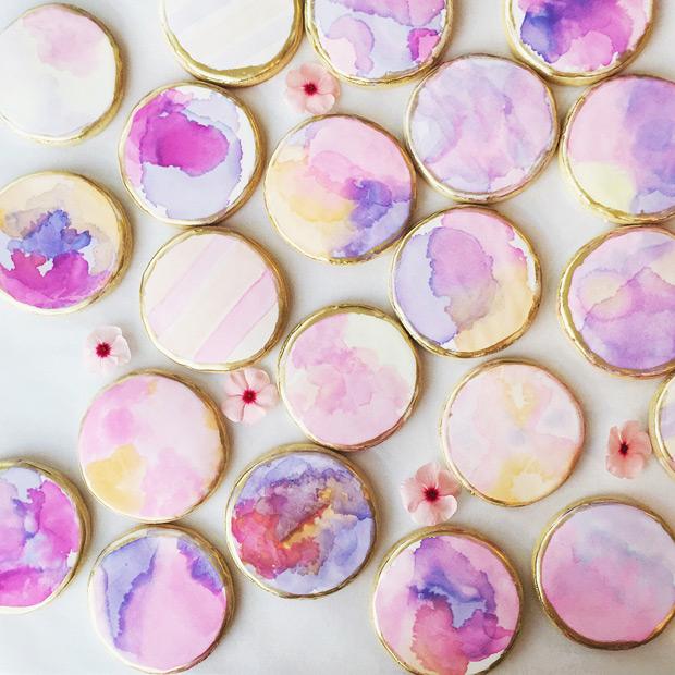 Inspiring Hand-painted Watercolor Cookies