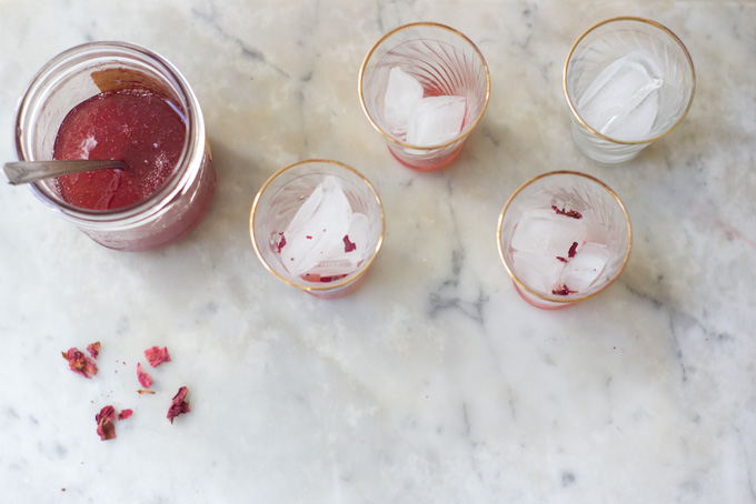 Rhubarb & Rosewater Syrup Recipe - 101 Cookbooks
