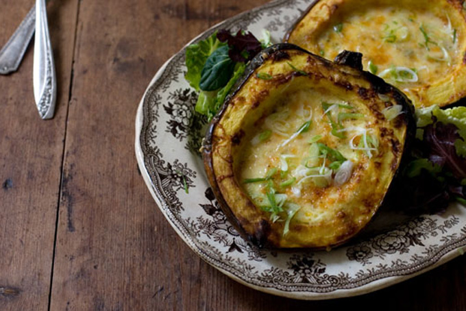 Roasted Corn Pudding in Acorn Squash Recipe - 101 Cookbooks
