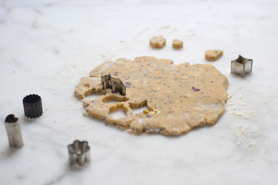 Rosewater Shortbread Cookies Recipe