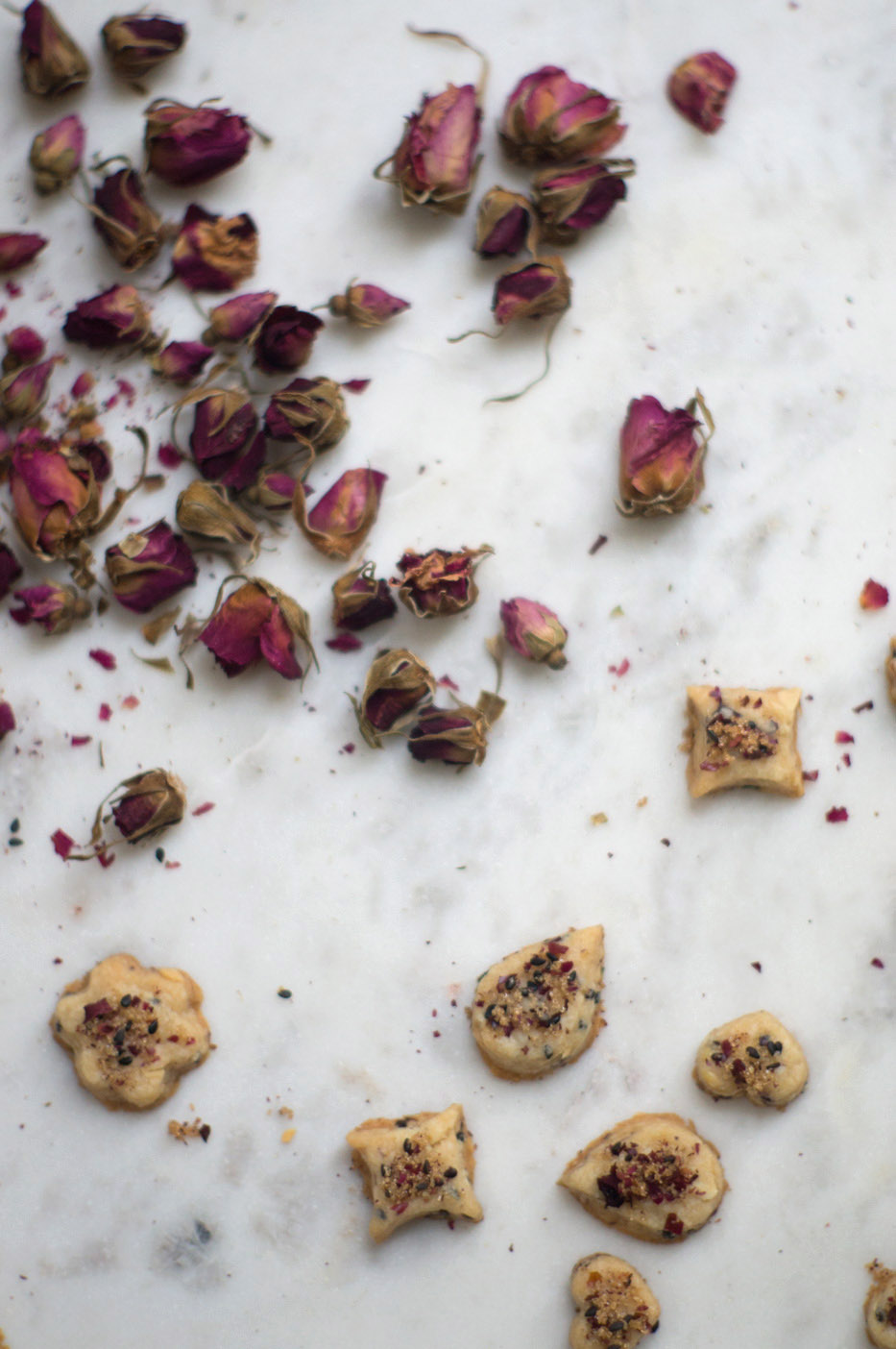 Rosewater Shortbread Cookies Recipe