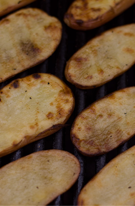 Grilled Salt and Vinegar Potatoes