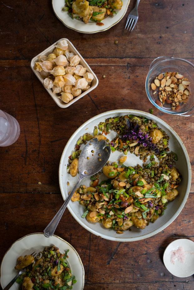 Smash-and-Toss Roasted Potato Salad