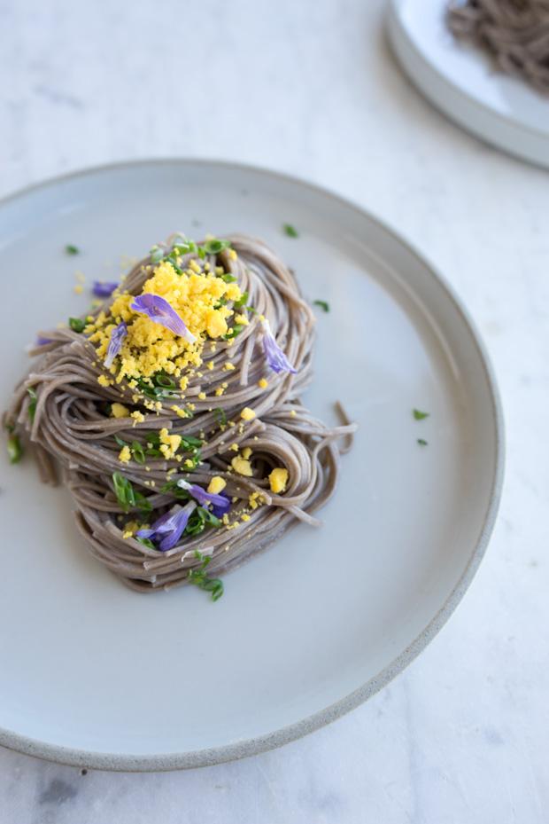 Soba, Chives and Crème Fraîche Recipe