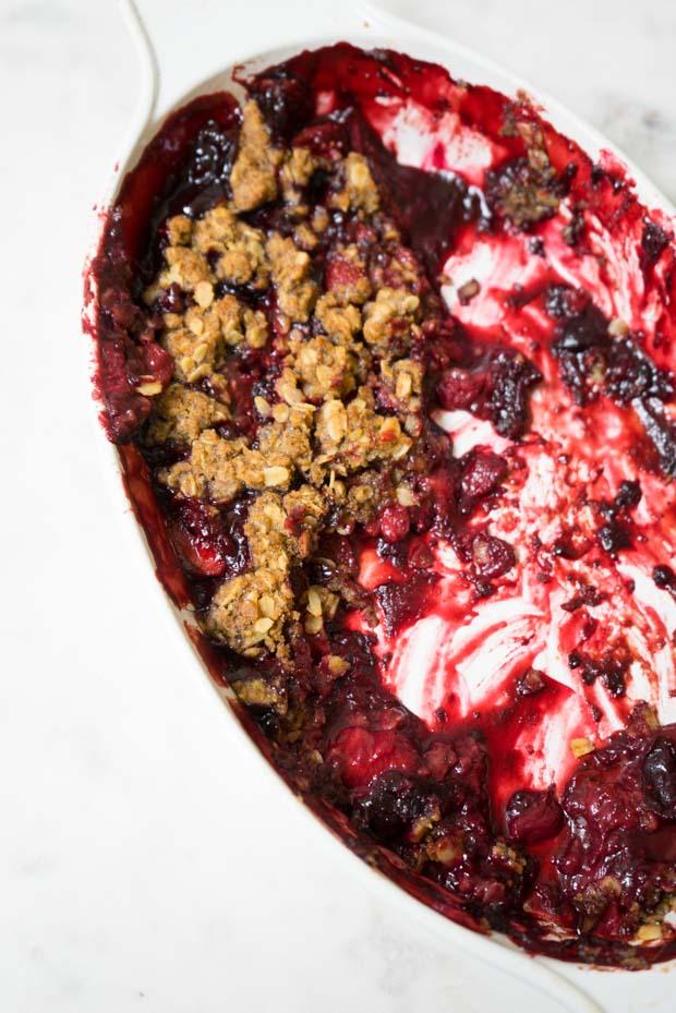 Receta Summer Berry Crisp