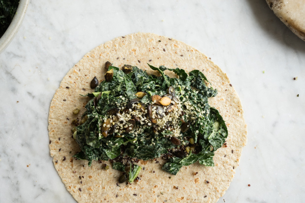 Super Green Vegan Quinoa Burrito