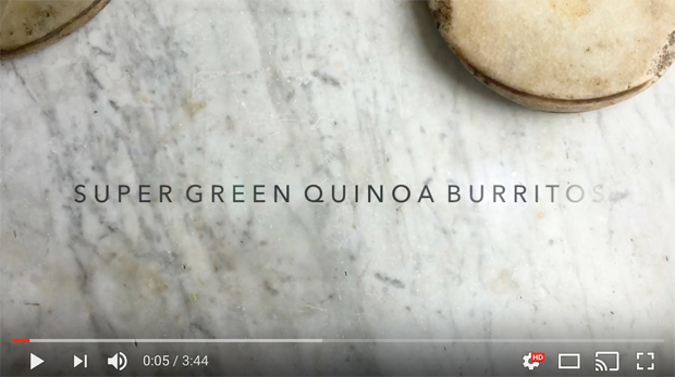 Green Vegan Quinoa Burrito Video