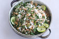 Herbal Rice Salad with Peanuts recipe