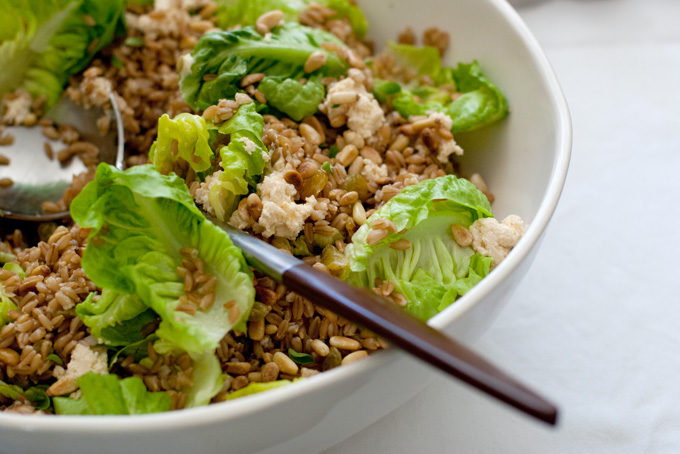 Whiskey & Wheat Berry Salad