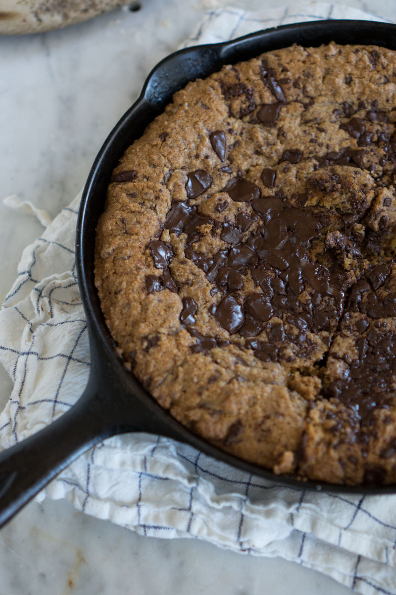 Whole Wheat Chocolate Chip Skillet Cookies Recipe 101