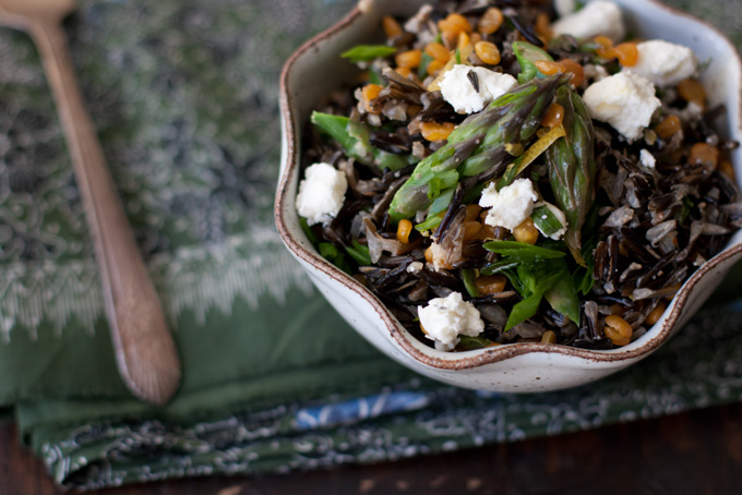 Spring Wild Rice Salad recipe